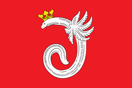 Flag of Ahlen is a town in North Rhine-Westphalia, Germany. Vector illustration