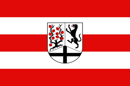 Flag of Delbrueck is a town in the east of North Rhine-Westphalia, Germany, located in the district Paderborn. Vector illustration