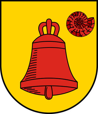 Coat of arms of Luedinghausen is a town in the district of Coesfeld in the state of North Rhine-Westphalia, Germany. Vector illustration