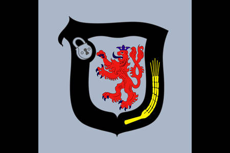 Flag of Mettmann is a district in the middle of North Rhine-Westphalia, Germany.