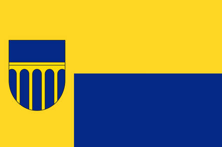 Flag of Altenbeken is a municipality in the district of Paderborn, in North Rhine-Westphalia, Germany. Vector illustration Illustration