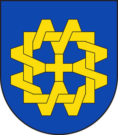 Coat of arms of Willich is a town in the district of Viersen, in North Rhine-Westphalia, Germany. Vector illustration