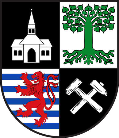 Coat of arms of Gelsenkirchen is a city in the North Rhine-Westphalia state of Germany. Vector illustration Illustration
