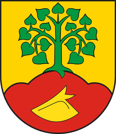 Coat of arms of Altenberge is a municipality in the district of Steinfurt, in North Rhine-Westphalia, Germany. Vector illustration Illustration