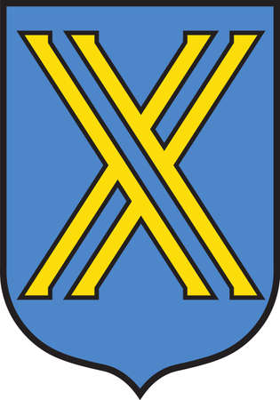 Coat of arms of Castrop-Rauxel is a former mining city in the eastern part of the Ruhr Area in Germany. Vector illustration