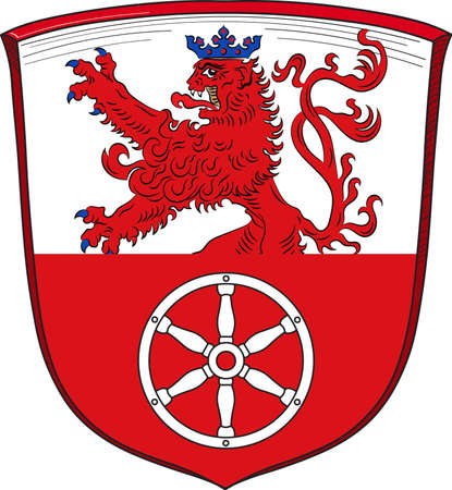 Coat of arms of Ratingen is a town in the district of Mettmann, in North Rhine-Westphalia, Germany. Vector illustration Illustration