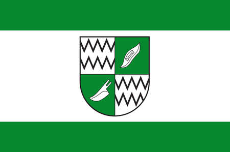 Flag of Rhede is a municipality in the district of Borken in the state of North Rhine-Westphalia, Germany. Vector illustration