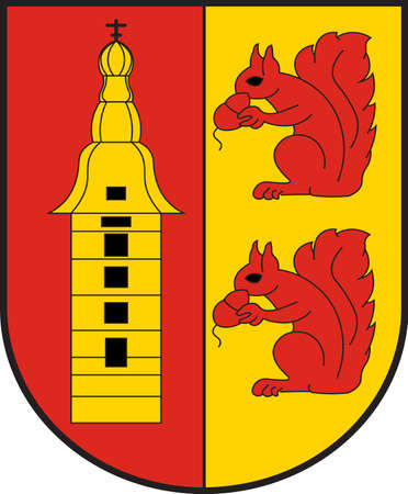 Coat of arms of Raesfeld is a municipality in the district of Borken in the state of North Rhine-Westphalia, Germany. Vector illustration