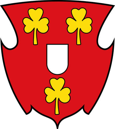Coat of arms of Cleves is a town in the Lower Rhine region of northwestern Germany. Vector illustration Illustration