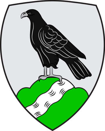 Coat of arms of Havixbeck is a municipality situated on the north-east edge of the Baumberge in the district of Coesfeld, in northern North Rhine-Westphalia, Germany. Vector illustration Illustration