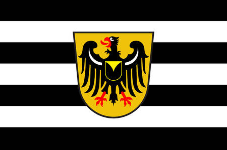 Flag of Waltrop is a town in the district of Recklinghausen, in North Rhine-Westphalia, Germany. Vector illustration