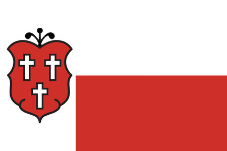 Flag of Bad Lippspringe is a town in the district of Paderborn, in North Rhine-Westphalia, Germany. Vector illustration