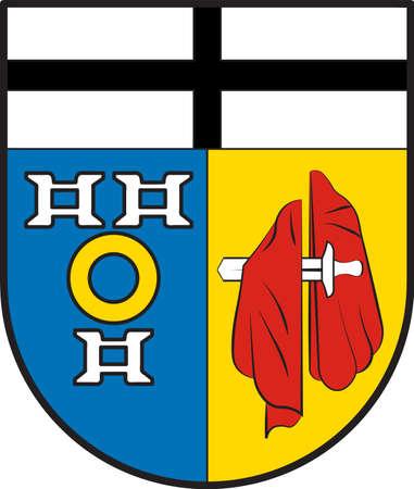 Coat of arms of Kaarst is a town in Rhein-Kreis Neuss in North Rhine-Westphalia, Germany. Vector illustration