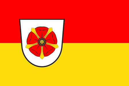 Flag of Lippe is a district in the east of North Rhine-Westphalia, Germany. Vector illustration Illustration
