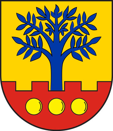 Coat of arms of Ascheberg is a municipality in the district of Coesfeld in the state of North Rhine-Westphalia, Germany. Vector illustration Illustration