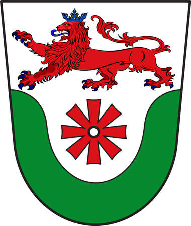 Coat of arms of Erkrath is a town in the district of Mettmann, in North Rhine-Westphalia, Germany. Vector illustration