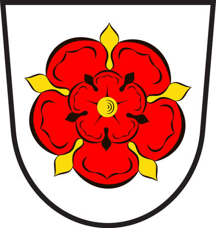 Coat of arms of Lippe is a district in the east of North Rhine-Westphalia, Germany. Vector illustration