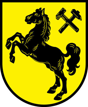 Coat of arms of Herne is a city in North Rhine-Westphalia, Germany. Vector illustration Illustration