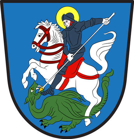 Coat of arms of Hattingen is a town in the northern part of the Ennepe-Ruhr-Kreis district, in North Rhine-Westphalia, Germany. Vector illustration