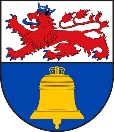 Coat of arms of Overath is a town in the Rheinisch-Bergischer district, in North Rhine-Westphalia, Germany. Vector illustration