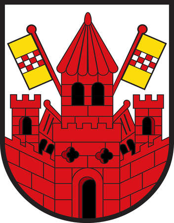 Coat of arms of Unna is a city in North Rhine-Westphalia, Germany, the seat of the Unna district. Vector illustration