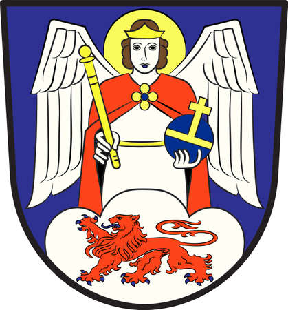 Coat of arms of Siegburg is a city in the district of Rhein-Sieg-Kreis, in North Rhine-Westphalia, Germany. Vector illustration Illustration