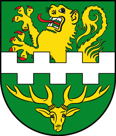 Coat of arms of Bergisch Gladbach is a city in the CologneBonn Region of North Rhine-Westphalia, Germany. Vector illustration Illustration