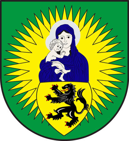 Coat of arms of Vettweiss is a municipality in the district of Dueren in the state of North Rhine-Westphalia, Germany. Vector illustration