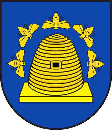 Coat of arms of Nastaetten is a municipality in the Rhein-Lahn-Kreis, in Rhineland-Palatinate, Germany. Vector illustration
