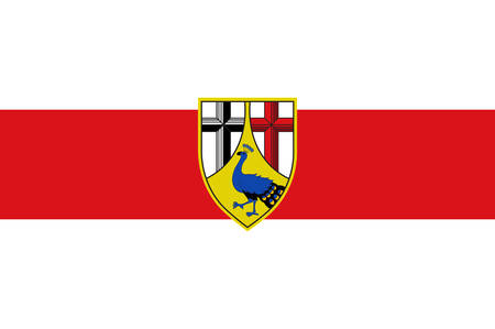 Flag of Neuwied is a district in the north of Rhineland-Palatinate, Germany. Vector illustration