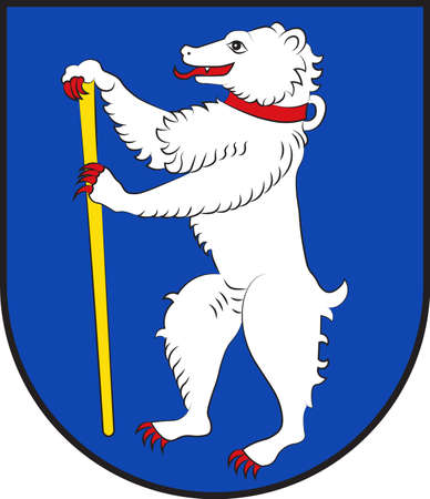 Coat of arms of Bechtheim in the Alzey-Worms district in Rhineland-Palatinate, Germany. Vector illustration