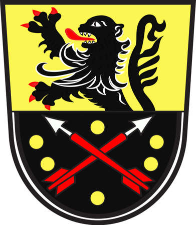 Coat of arms of Bad Breisig is a collective municipality in the district of Ahrweiler, in Rhineland-Palatinate, Germany. Vector illustration