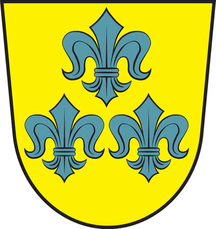 Coat of arms of Hahnstaetten is a municipality in the Rhein-Lahn-Kreis, in Rhineland-Palatinate, Germany. Vector illustration
