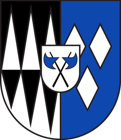Coat of arms of Partenheim in the Alzey-Worms district in Rhineland-Palatinate, Germany. Vector illustration