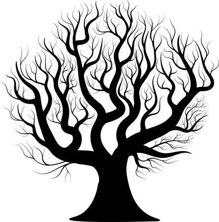 Black silhouette tree.