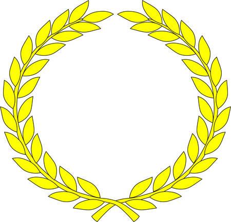 Couronne jaune - symbole de victoire et de réussite. Illustration vectorielle Vecteurs
