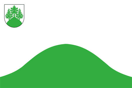 Flag of Tukums is a town in Latvia. Vector illustration