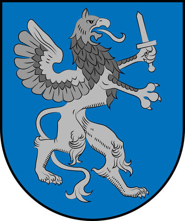 Coat of arms of Latgale is one of the four historical and cultural regions of Latvia recognised in the Constitution of the Latvian Republic. Vector illustration