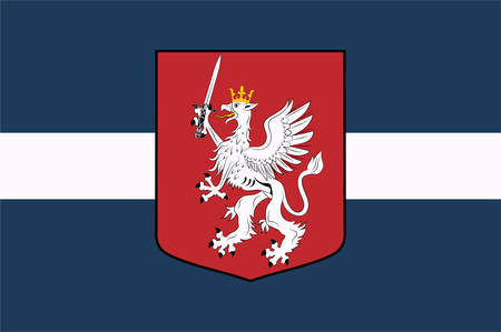 Flag of Latgale is one of the four historical and cultural regions of Latvia recognised in the Constitution of the Latvian Republic. Vector illustration
