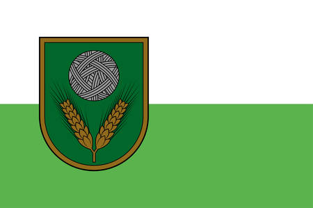 Coat of arms of Rezekne Municipality is a municipality in Latgale, Latvia. Vector illustration Illustration