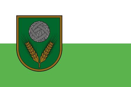 Coat of arms of Rezekne Municipality is a municipality in Latgale, Latvia. Vector illustration Illustration