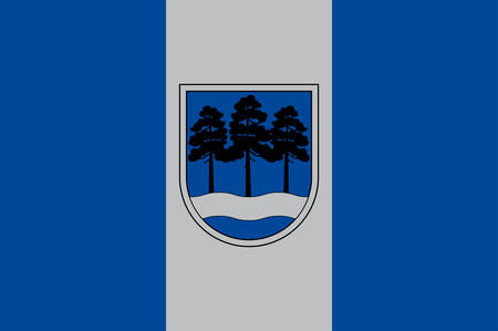 Coat of arms of Ogre is the principal town of Ogre Municipality in Central Latvia. Vector illustration
