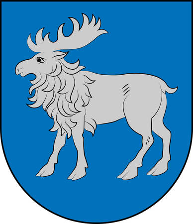 Coat of arms of Selonia is a cultural region of Latvia encompassing the eastern part of the historical region of Semigallia. Vector illustration