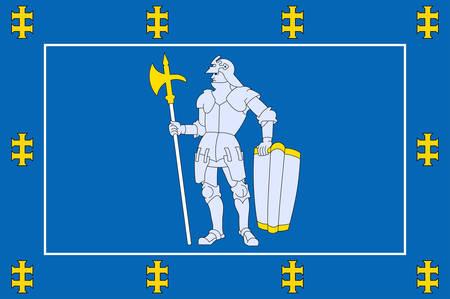 Flag of Alytus County is one of ten counties in Lithuania. Vector illustration Векторная Иллюстрация