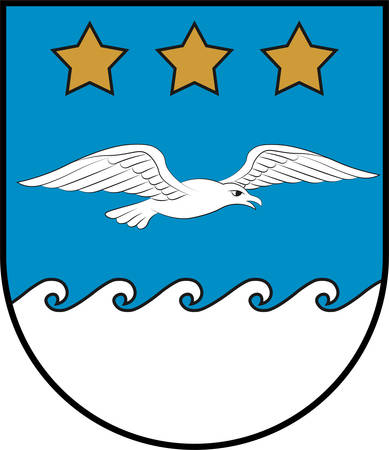 Coat of arms of Jurmala is a city in Latvia. Vector illustration Illustration