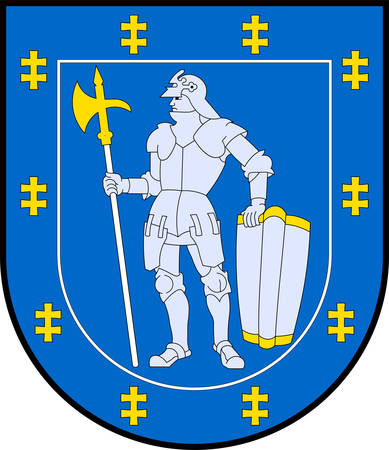 Coat of arms of Alytus County is one of ten counties in Lithuania. Vector illustration Ilustração