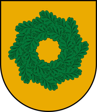 Coat of arms of Talsi Municipality is a municipality in Courland, Latvia. Vector illustration
