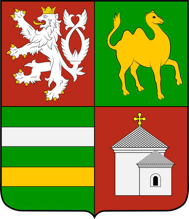 Coat of arms of Plzen Region is an administrative unit in the western part of Bohemia in the Czech Republic. Vector illustration