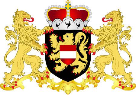 Armoiries du Brabant flamand est une province de Flandre, l'une des trois régions de Belgique. Illustration vectorielle