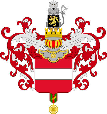 Coat of arms of Leuven or Louvain is the capital of the province of Flemish Brabant in Belgium. Vector illustration Vector Illustratie